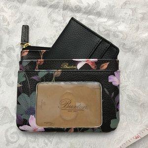 NWOT Buxton Leather Mini Floral Wallet